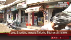 Load Shedding impacts Tailoring Business in Lahore.