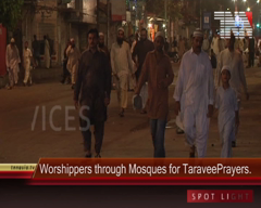 Worshippers Throng Mosques for First Taraveeh Prayers, Karachi