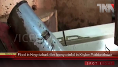 Flood in Hayyatabad after heavy rainfall in Khyber Pakhtunkhwa.