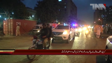Karachi-Police and Rangers action in karachi 11 arrested