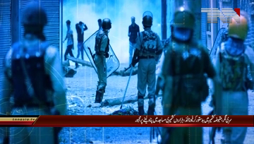 Srinagar- Thousand Kashmiri's force taking Shelter at Mosque due to Indian Aggression