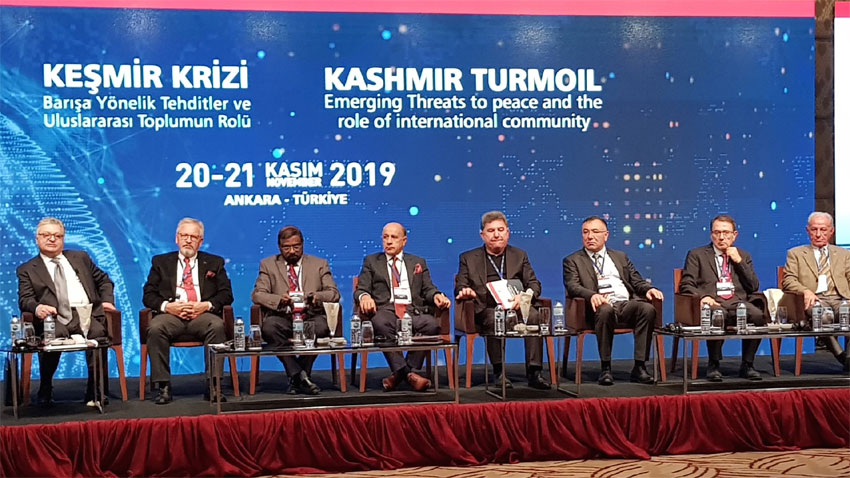 Ankara- India's threat to peace, Kashmir issue to be resolved, World Conference, Occupied Valley is on the radar of the world with hardest status, says President Azad Kashmir
