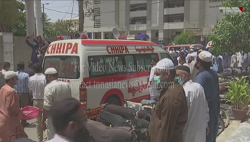 Karachi- Funeral prayers offered after identification of two bodies