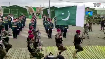 Rawalpindi- Contingent of Pak Army participates in opening ceremony of Kavkaz 2020 in Russia